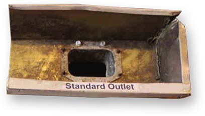 standard gutter outlet